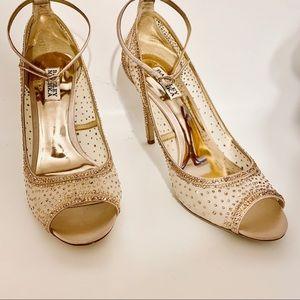Gorgeous Badgley Mischka Peep Toe Shoes-NWOT Blush